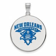 New Orleans Privateers Sterling Silver Extra Large Enameled Disc Pendant