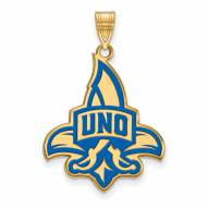 New Orleans Privateers Sterling Silver Gold Plated Extra Large Enameled Pendant