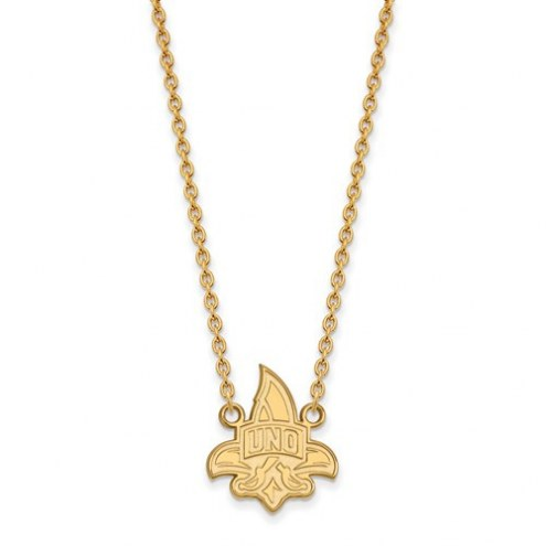 New Orleans Privateers Sterling Silver Gold Plated Large Pendant Necklace