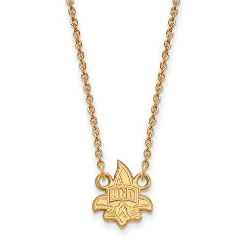 New Orleans Privateers Sterling Silver Gold Plated Small Pendant Necklace