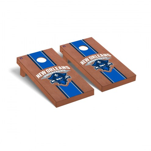 New Orleans Privateers Rosewood Stained Stripe Cornhole Game Set
