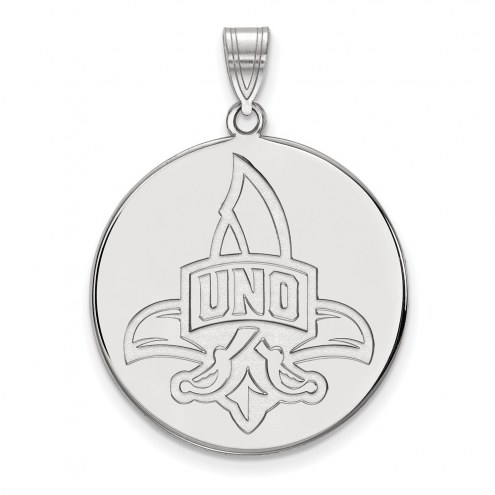 New Orleans Privateers Sterling Silver Extra Large Disc Pendant