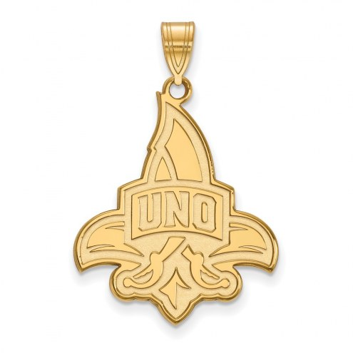 New Orleans Privateers Sterling Silver Gold Plated Extra Large Pendant