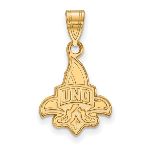 New Orleans Privateers Sterling Silver Gold Plated Medium Pendant