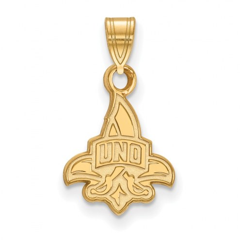New Orleans Privateers Sterling Silver Gold Plated Small Pendant