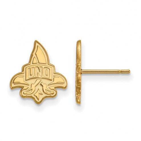New Orleans Privateers Sterling Silver Gold Plated Small Post Earrings