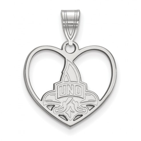New Orleans Privateers Sterling Silver Heart Pendant