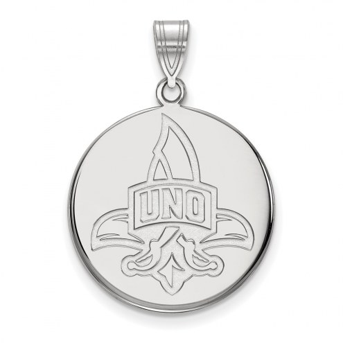 New Orleans Privateers Sterling Silver Large Disc Pendant