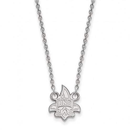 New Orleans Privateers Sterling Silver Small Pendant Necklace