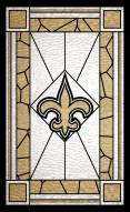 """New Orleans Saints 11"""" x 19"""" Stained Glass Sign"""