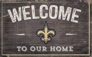 """New Orleans Saints 11"""" x 19"""" Welcome to Our Home Sign"""