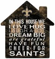 """New Orleans Saints 12"""" House Sign"""