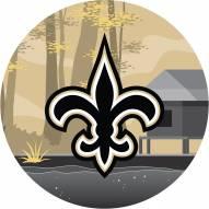 """New Orleans Saints 12"""" Landscape Circle Sign"""