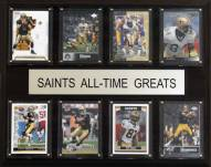 "New Orleans Saints 12"" x 15"" All-Time Greats Plaque"