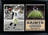 "New Orleans Saints 12"" x 18"" Drew Brees Photo Stat Frame"
