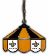 """New Orleans Saints 14"""" Glass Pub Lamp"""