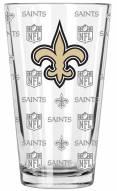 New Orleans Saints 16 oz. Sandblasted Pint Glass