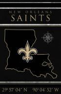 """New Orleans Saints 17"""" x 26"""" Coordinates Sign"""