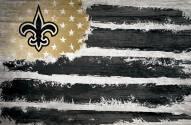 """New Orleans Saints 17"""" x 26"""" Flag Sign"""