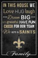 """New Orleans Saints 17"""" x 26"""" In This House Sign"""