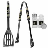 New Orleans Saints 2 Piece BBQ Set with Salt & Pepper Shakers