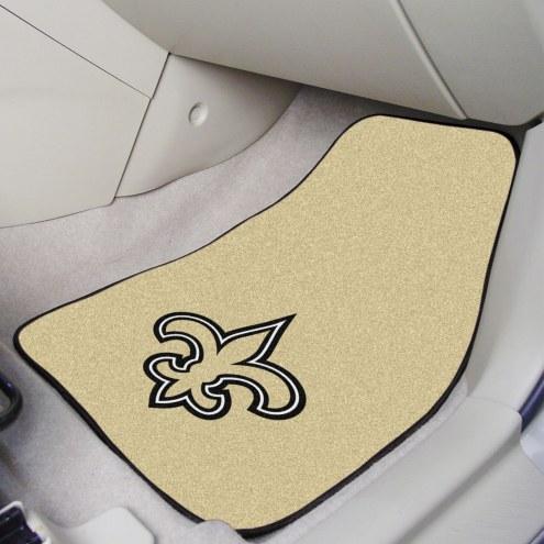 New Orleans Saints 2-Piece Carpet Car Mats