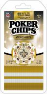 New Orleans Saints 20 Piece Poker Chips Set