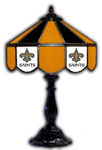 "New Orleans Saints 21"" Glass Table Lamp"