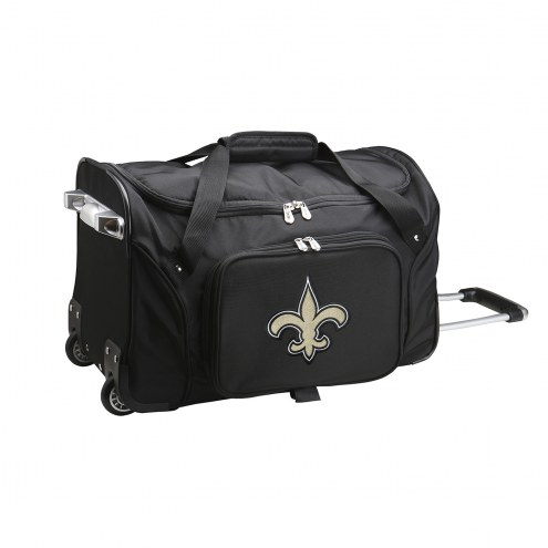 "New Orleans Saints 22"" Rolling Duffle Bag"