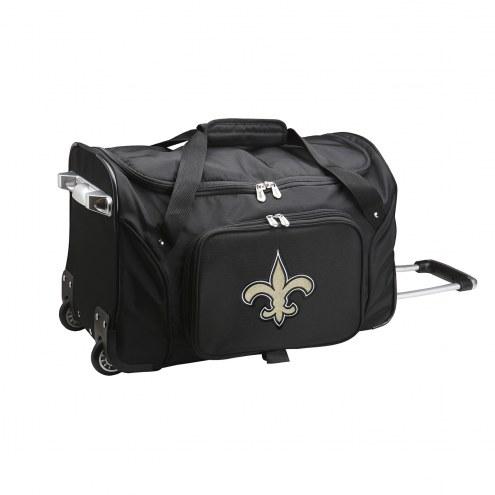 "New Orleans Saints 22"" Rolling Duffle Bag"