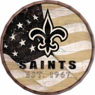 "New Orleans Saints 24"" Flag Barrel Top"