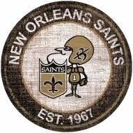 "New Orleans Saints 24"" Heritage Logo Round Sign"