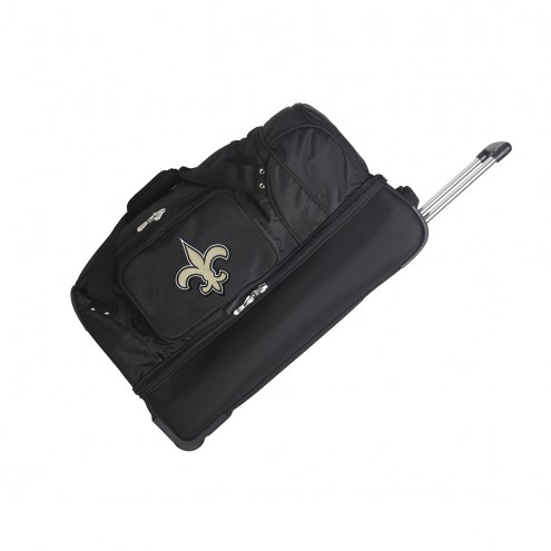 "New Orleans Saints 27"" Drop Bottom Wheeled Duffle Bag"