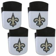 New Orleans Saints 4 Pack Chip Clip Magnet with Bottle Opener
