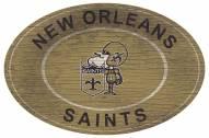 "New Orleans Saints 46"" Heritage Logo Oval Sign"