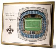 New Orleans Saints 5-Layer StadiumViews 3D Wall Art