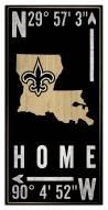 """New Orleans Saints 6"""" x 12"""" Coordinates Sign"""