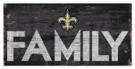"New Orleans Saints 6"" x 12"" Family Sign"