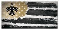 """New Orleans Saints 6"""" x 12"""" Flag Sign"""