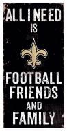 "New Orleans Saints 6"" x 12"" Friends & Family Sign"