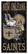 "New Orleans Saints 6"" x 12"" Heritage Logo Sign"