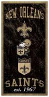 "New Orleans Saints 6"" x 12"" Heritage Sign"