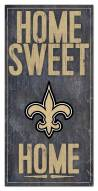 """New Orleans Saints 6"""" x 12"""" Home Sweet Home Sign"""