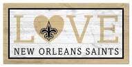 """New Orleans Saints 6"""" x 12"""" Love Sign"""