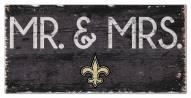 """New Orleans Saints 6"""" x 12"""" Mr. & Mrs. Sign"""
