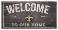 """New Orleans Saints 6"""" x 12"""" Welcome Sign"""