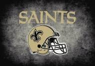 New Orleans Saints 6' x 8' NFL Distressed Area Rug