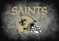 New Orleans Saints 6' x 8' NFL Distressed Area Rug
