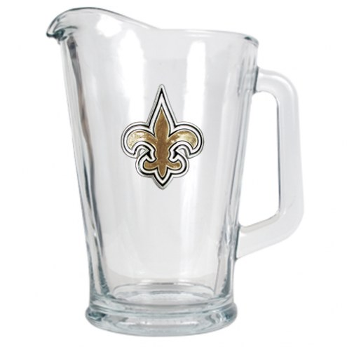 New Orleans Saints 60 Oz. Glass Pitcher - Primary Logo