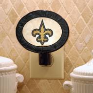 New Orleans Saints Art Glass Night Light